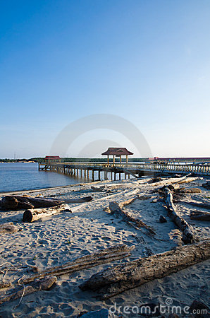 Jetty of Bernas Beach