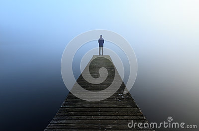 Jetty in the fog
