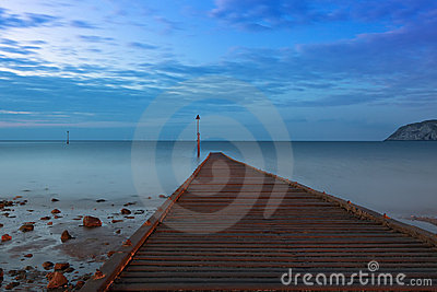 Jetty at Irish Sea, Llandudno, North Wales