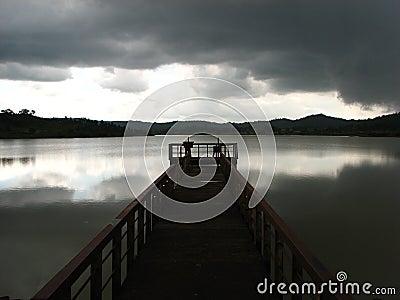 Jetty on Keonjhar lake