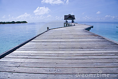Jetty in Maldives