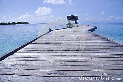 Jetty in Maldives