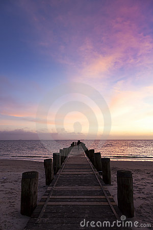 Jetty at North Sea beach