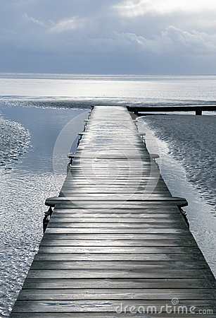 Jetty on sea