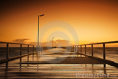 Jetty Sunset Stock Photography - Image: 21471772