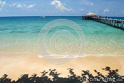 Jetty on Tioman Island, Malaysia