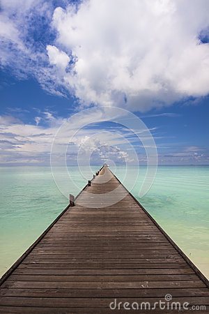 Free Jetty To The Horizon Stock Photography - 27339022