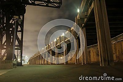 Jetty walkway by night