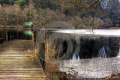 jetty and water, loch Ard