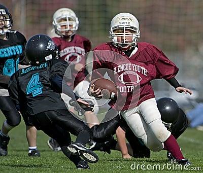 Jeu de football américain de la jeunesse Image stock éditorial