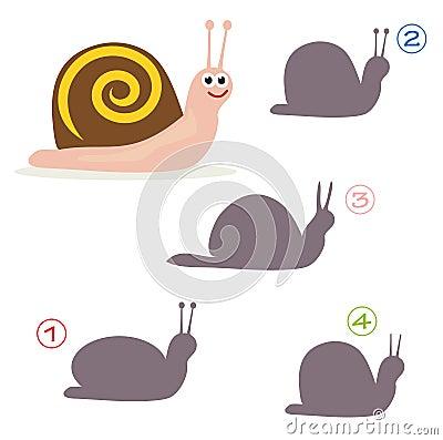 Jeu de forme - l escargot
