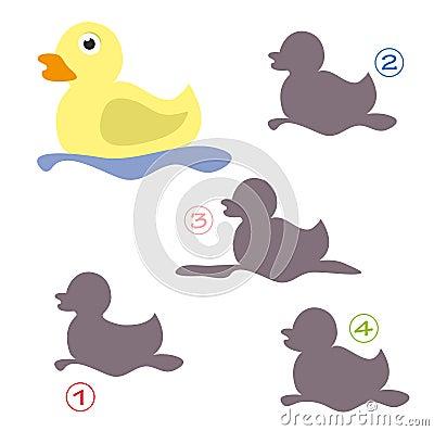 Jeu de forme - le canard