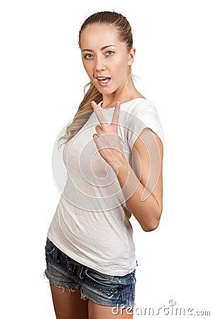 Jeune blonde attirante