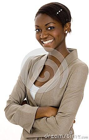 Jeune femme d affaires