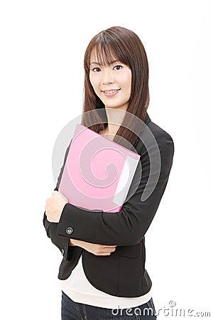 Jeune femme d affaires asiatique
