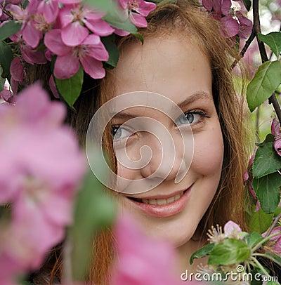 Jeune fille de roux