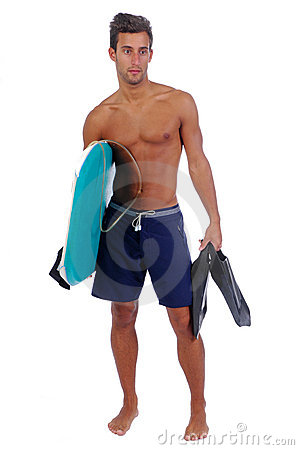 Jeune homme avec un panneau de boogie