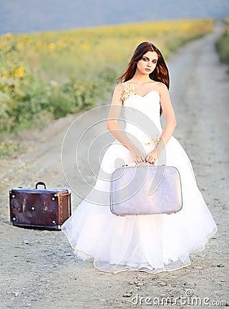 Jeune mariée d emballement