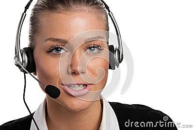 Jeune opérateur de téléphone