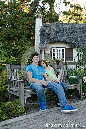 Jeune repos de couples
