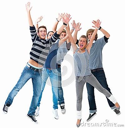 jeunes-eacutetudiants-excited-branchant-pour-la-joie-thumb6802942 dans PRIERE DANS LA VIE