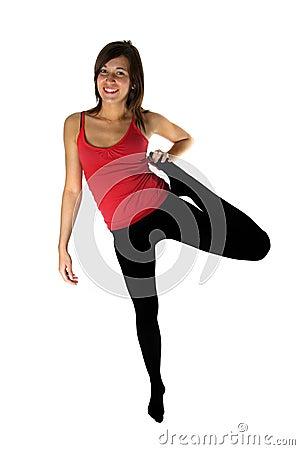 Forme physique de formation de jeune femme
