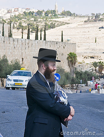 Jew in old Jerusalem Editorial Photography