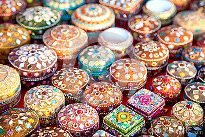 Jewel boxes in market
