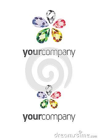 Jewel Flower Logo
