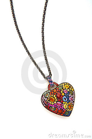 Jewel heart chain