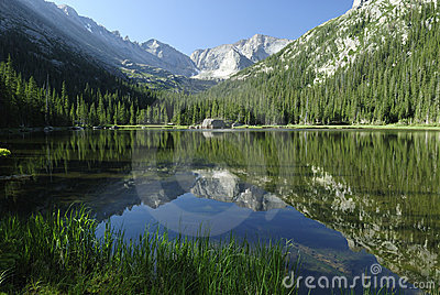 Jewel Lake in Colorado Rocky Mountains