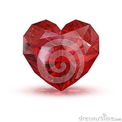 Jewel in the shape of heart.