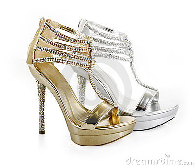 Jeweled evening shoes