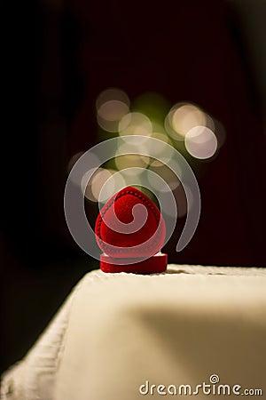 Jewelery box with blur lights effect