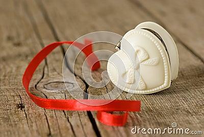 Jewelery box in heart shape