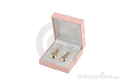 Jewelery gold earing