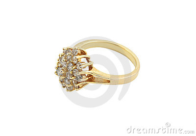 Jewelery gold ring