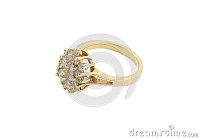 Jewelery gold ring
