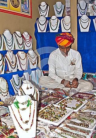 Jewelery merchant Editorial Stock Photo