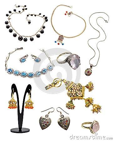 Free Jewelery Set Royalty Free Stock Photo - 43504215