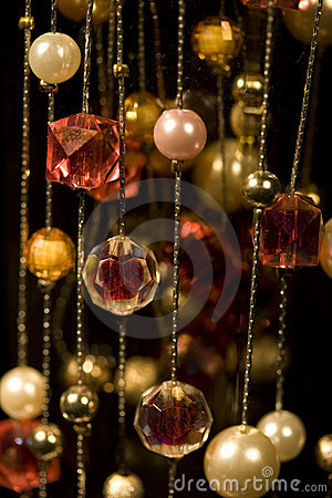 Free Jewellery Curtains Stock Image - 3877911