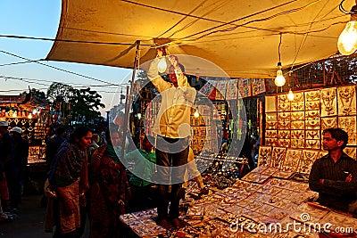Jewellery Market Editorial Stock Photo
