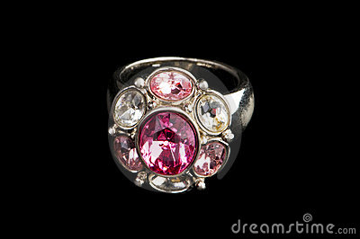Jewellery ring isolated