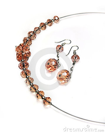 Free Jewellry - Necklace And Earrings Stock Images - 9759894