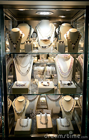 Jewelries, shop exhibition.
