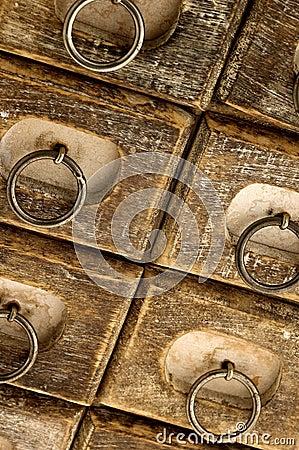 Jewelry case drawers