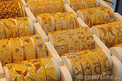 Jewelry At Dubai S Gold Souq Stock Image Image 8062281