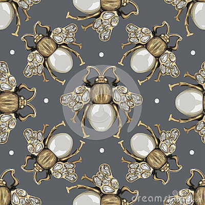 Free Jewelry Fly On A Gray Background. Royalty Free Stock Photo - 99224145