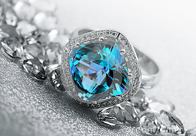 Jewelry gems and topaz ring