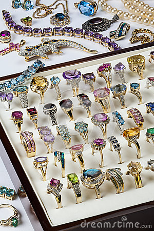 Free Jewelry - Gemstones - Rings - Bling Stock Image - 30634471